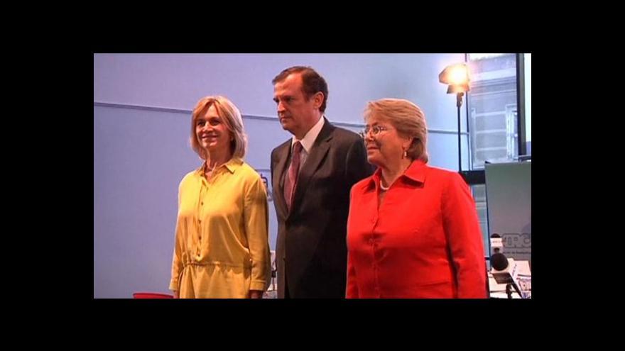 Video Horizont ČT24 o nové prezidentce Chile