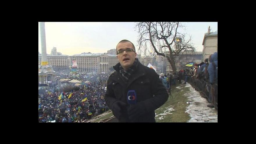 Video Události: Na Ukrajině se dál protestuje