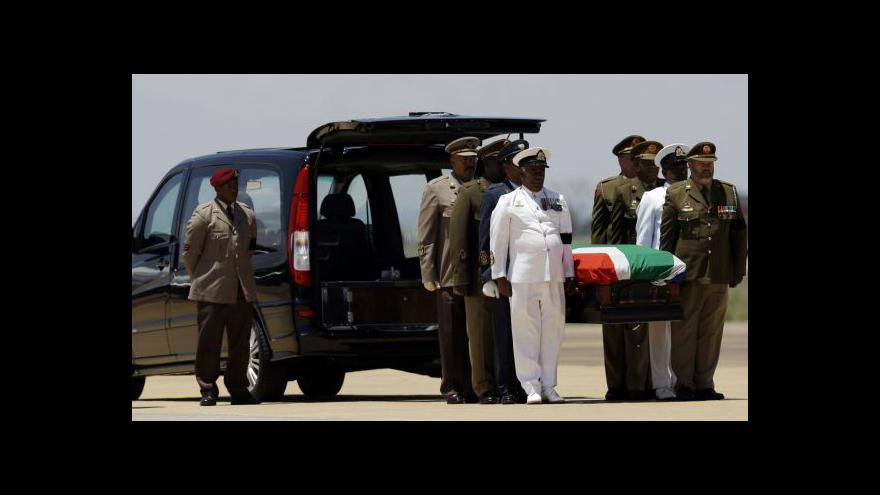 Video Přípravy na pohřeb Nelsona Mandely