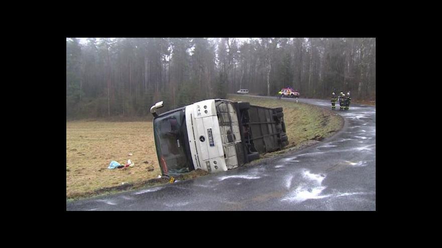 Video Lucie Pokorná o nehodě autobusu na Liberecku