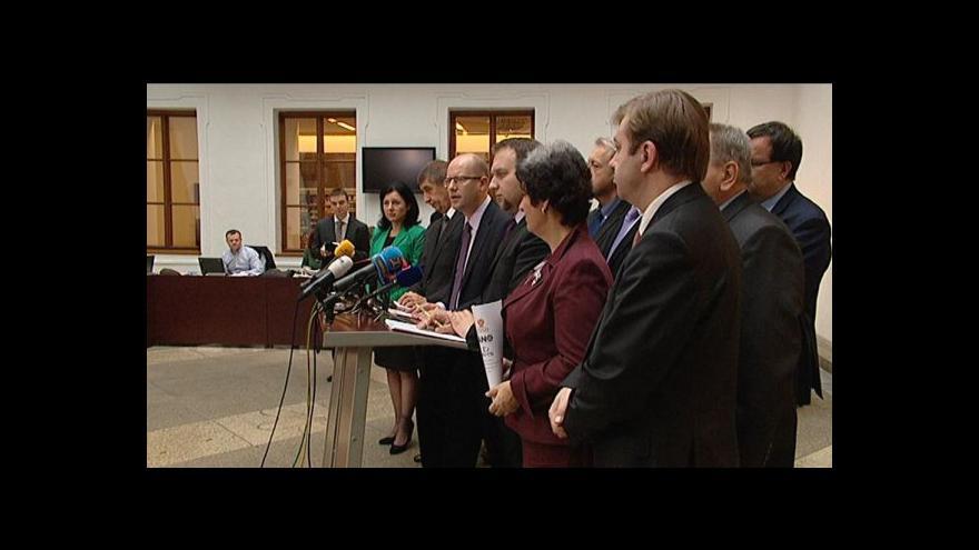 Video Rodící se koalice představila dohodu