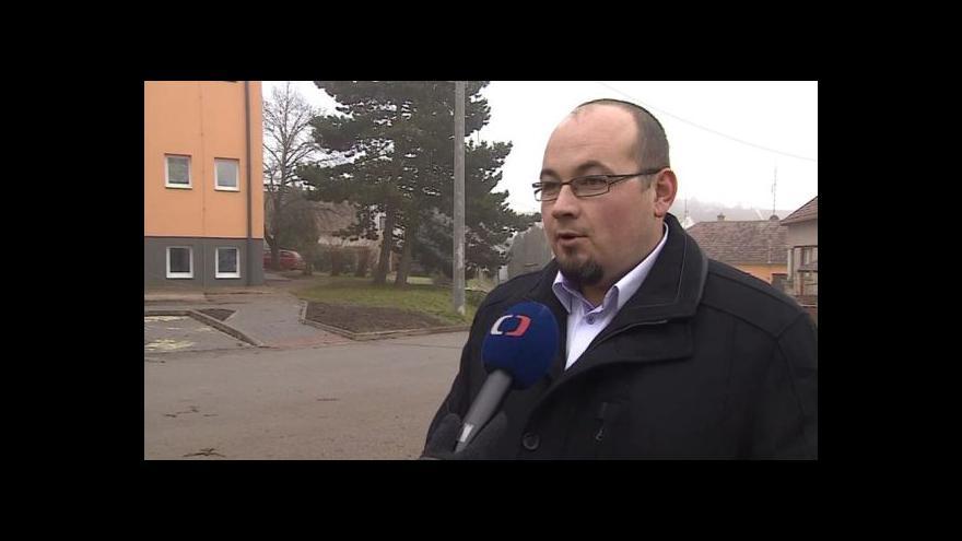 Video Dopravní situaci popisuje starosta Čebína Tomáš Kříž