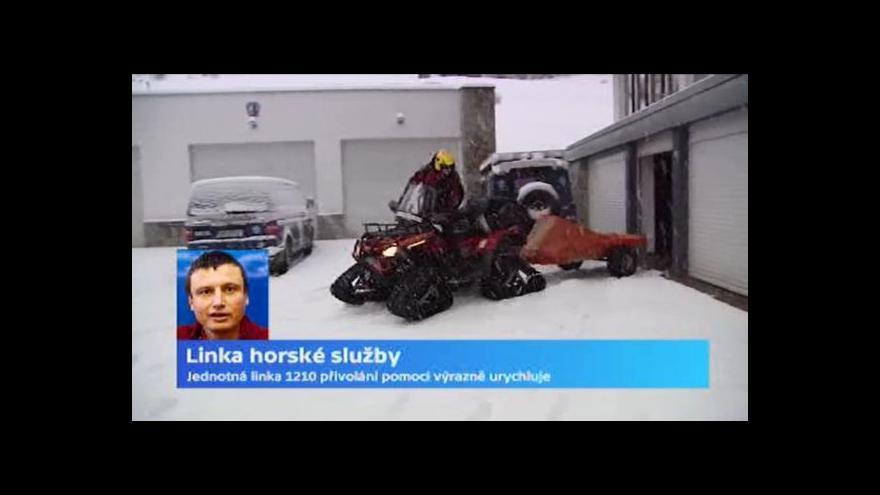 Video Telefonuje náčelník Horské služby Jiří Brožek