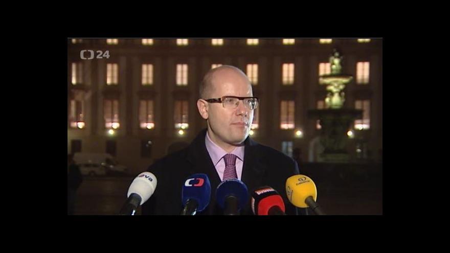 Video Brífink předsedy ČSSD Bohuslava Sobotky po jednání s prezidentem