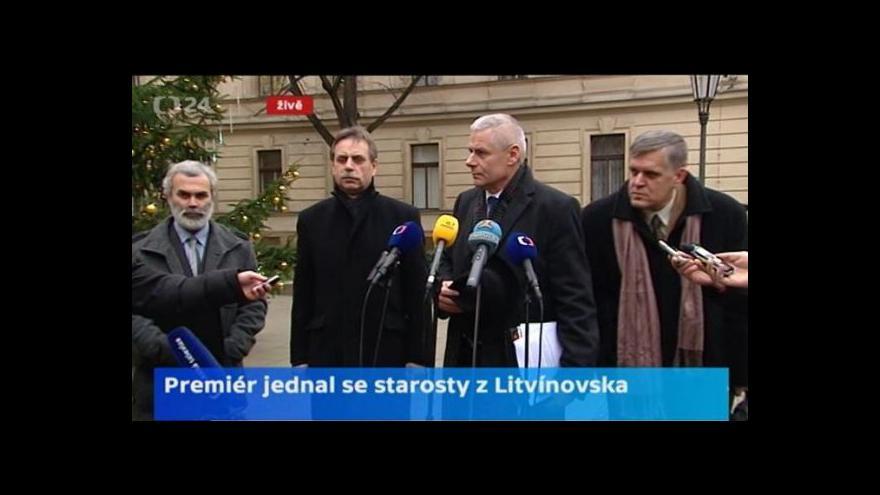 Video Brífink starostů měst a obcí Litvínovska k územním limitům těžby uhlí