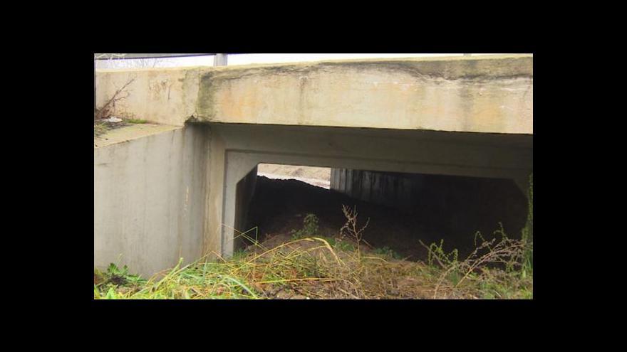 Video Přemysl Šrámek o ucpaném toku pod mostem