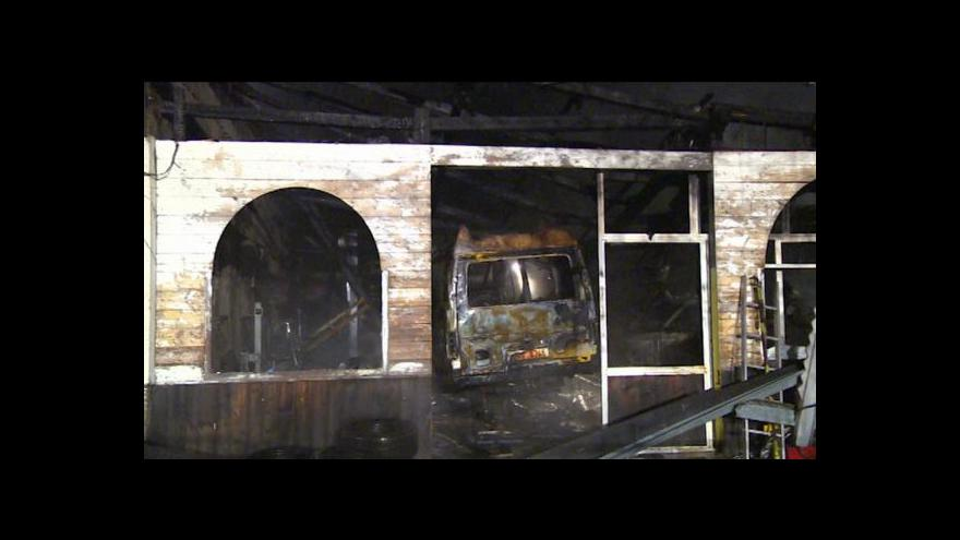 Video Erik Knajfl o požáru autodílny