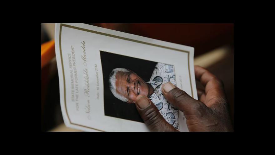 Video Celý svět se loučí s Nelsonem Mandelou