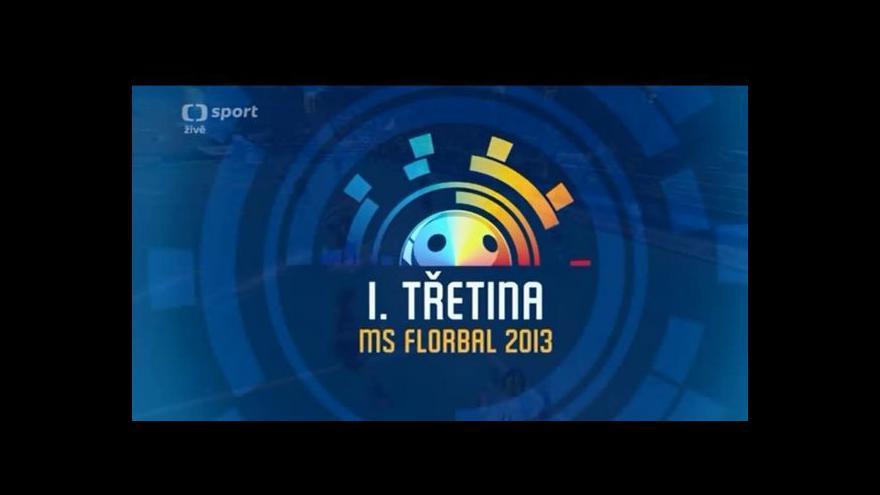 Video Sestřih 1. třetiny utkání Česko - Lotyšsko