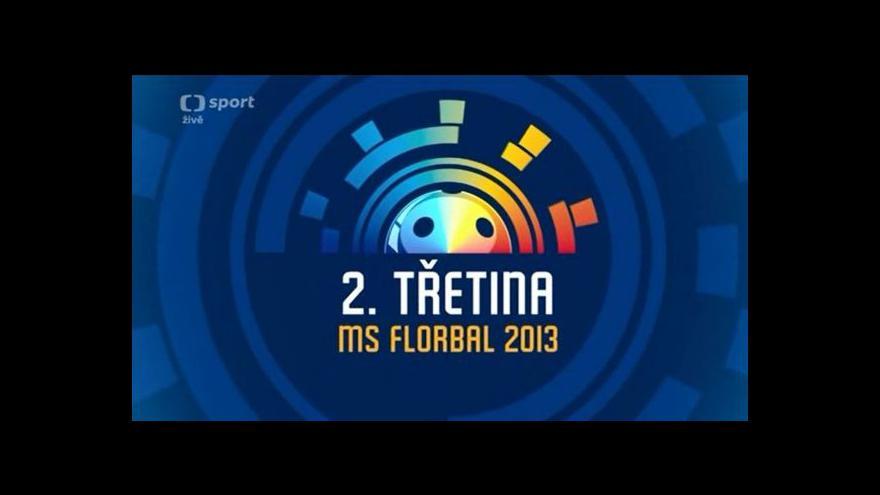 Video Sestřih 2. třetiny utkání Česko - Lotyšsko