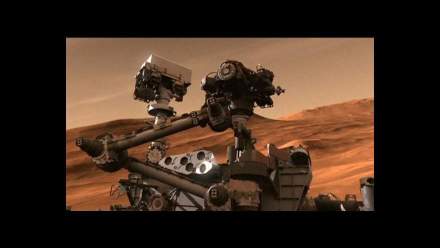Video Na Marsu bylo jezero