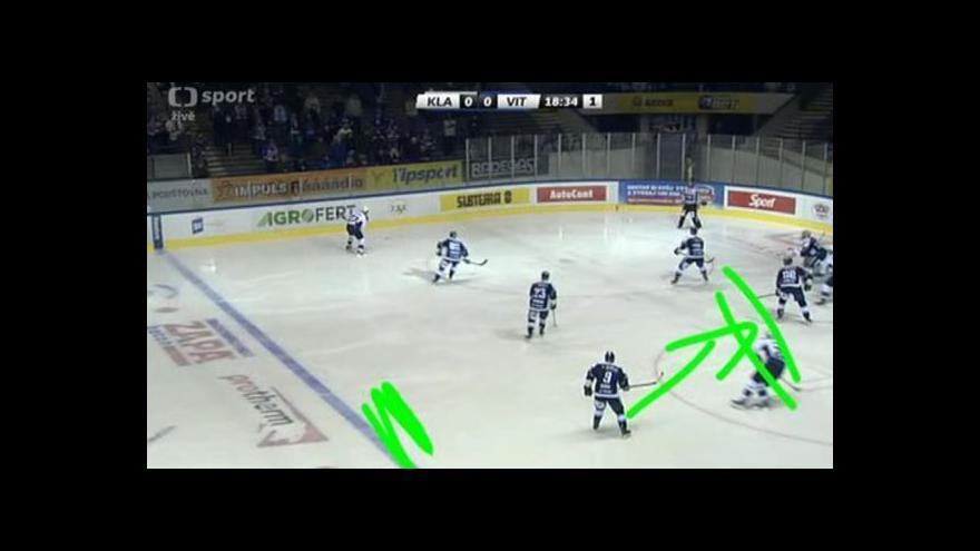 Video El. tužka: Gól v utkání Kladno - Vítkovice: Bajaruns - 1:0 (2. min.)