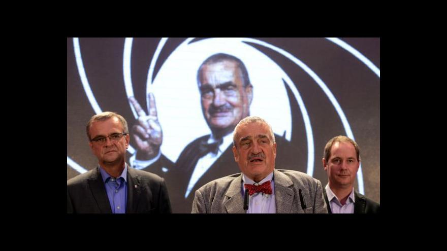 Video Děkovný projev Karla Schwarzenberga po zvolení předsedou