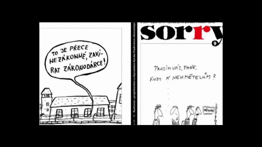 Video Humoristický časopis Sorry končí
