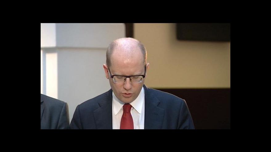 Video Brífink po jednání zástupců ČSSD, ANO a KDU-ČSL