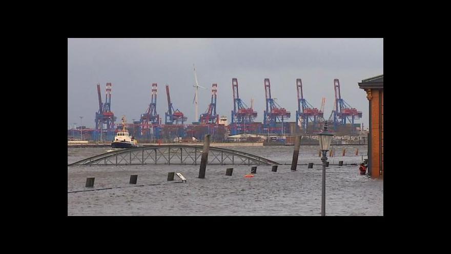 Video Události o evropských dopadech orkánu Xaver
