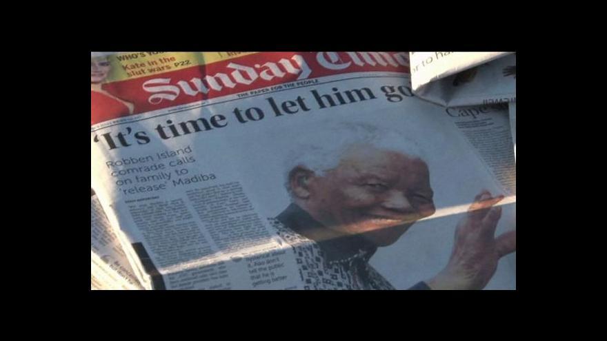 Video Úmrtí Nelsona Mandely (Zprávy 23:00)