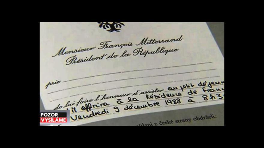 Video Mitterrandova návštěva pohledem ČST