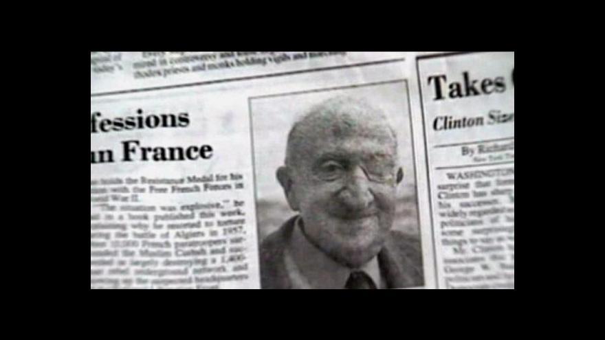 Video Ve Francii zemřel zastánce mučení vězňů generál Aussaresses