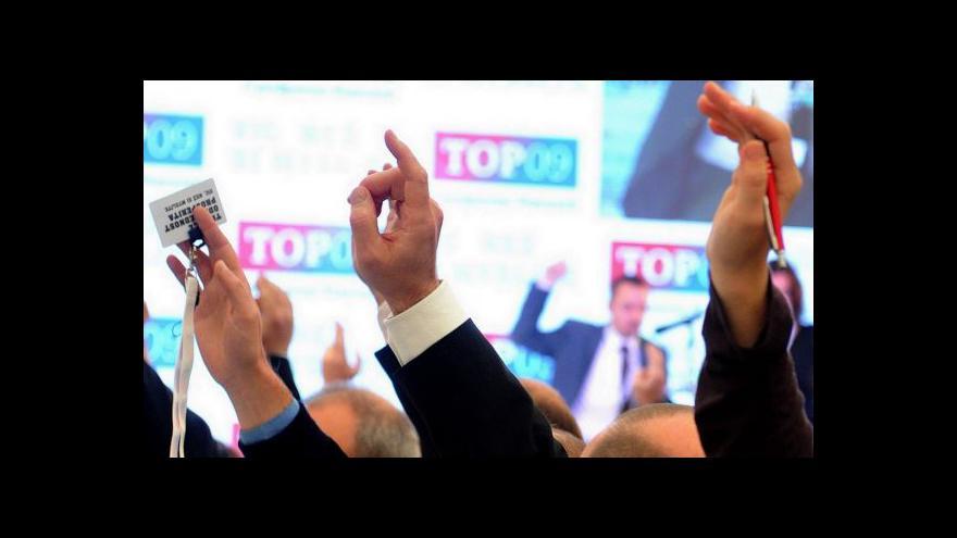 Video TOP 09 volí stranické vedení