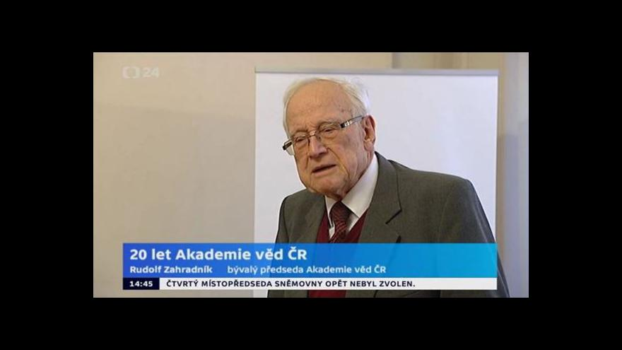 Video Brífink ke 20 letům Akademie věd ČR