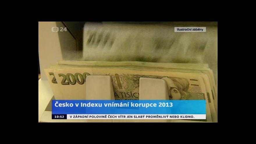 Video Brífink k hodnocení České republiky v Indexu vnímání korupce 2013