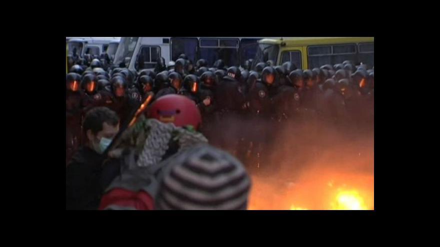 Video Nedělní ukrajinské nepokoje - bez komentáře