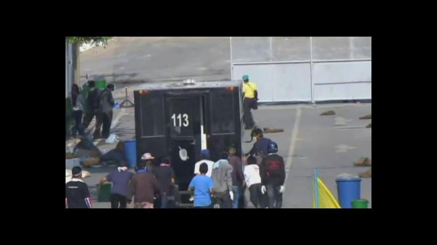 Video Protesty v Thajsku - no comment