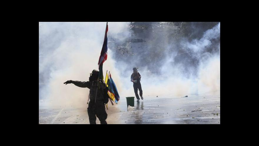 Video V Bangkoku pokračují rozsáhlé protivládní protesty