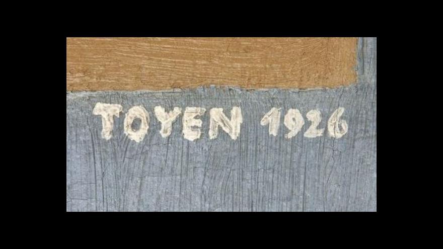 Video Obraz malířky Toyen se dnes v aukci prodal za 10 milionů korun