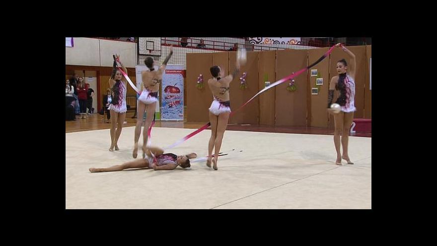 Video Republikové zlato ze skladeb získaly gymnastky Moravské Slavie Brno