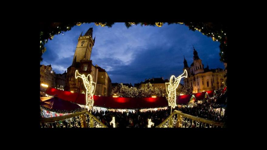 Video Rozsvěcení vánočního stromu na Staroměstském náměstí