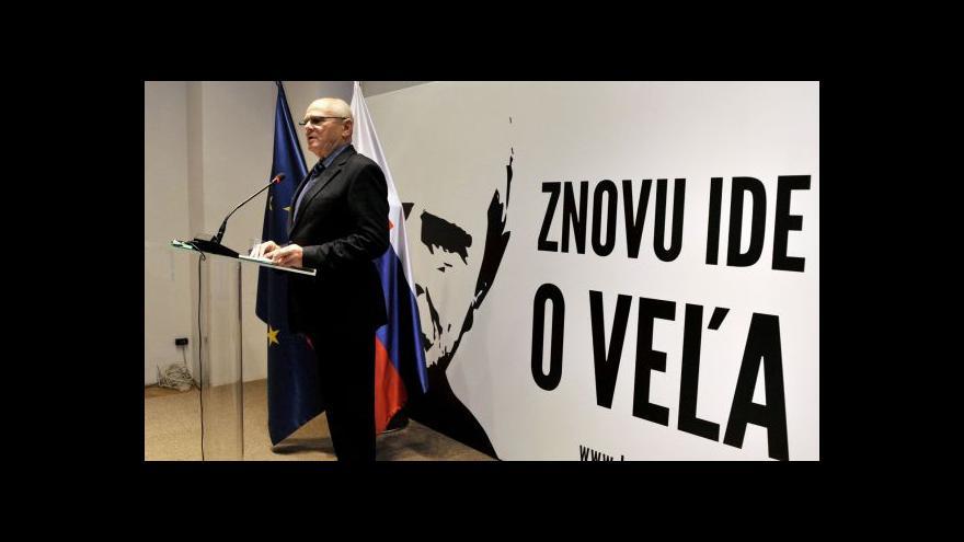 Video Kňažko chce být slovenským prezidentem