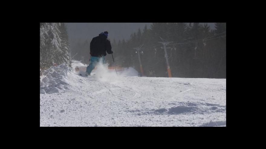 Video Přemysl Šrámek o prvním lyžování