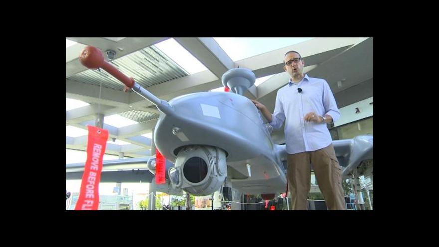 Video Jakub Szántó o izraelském veletrhu dronů