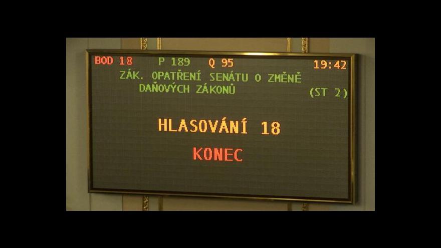 Video Sněmovna schválila všechna čtyři zákonná opatření Senátu
