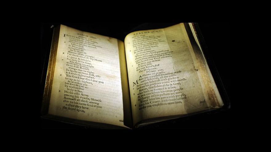 Video Nejvýše vydraženou tištěnou knihou je kniha žalmů
