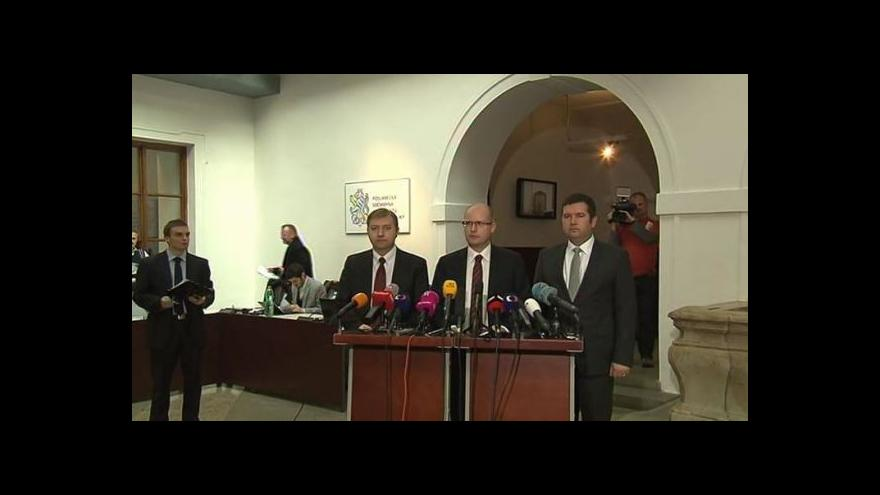 Video Brífink ČSSD před ustavující schůzí sněmovny