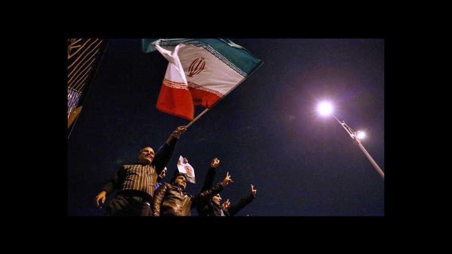 Video Ženevskou delegaci vítali Íránci jako hrdiny