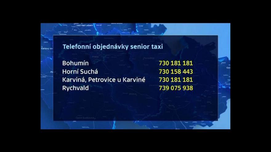 Video Senior taxi na severní Moravě