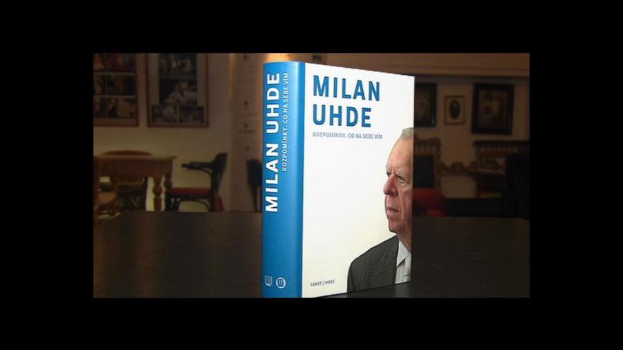 Video Milan Uhde vydává autobiografii