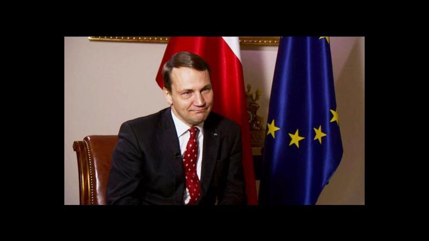 Video Exkluzivní rozhovor ČT s Radoslawem Sikorskim