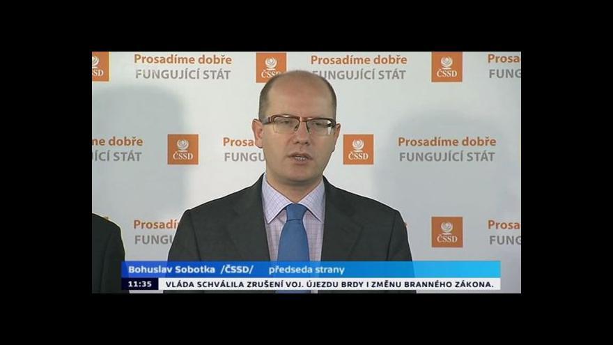 Video TK ČSSD o církevních restitucích a ČD Cargo