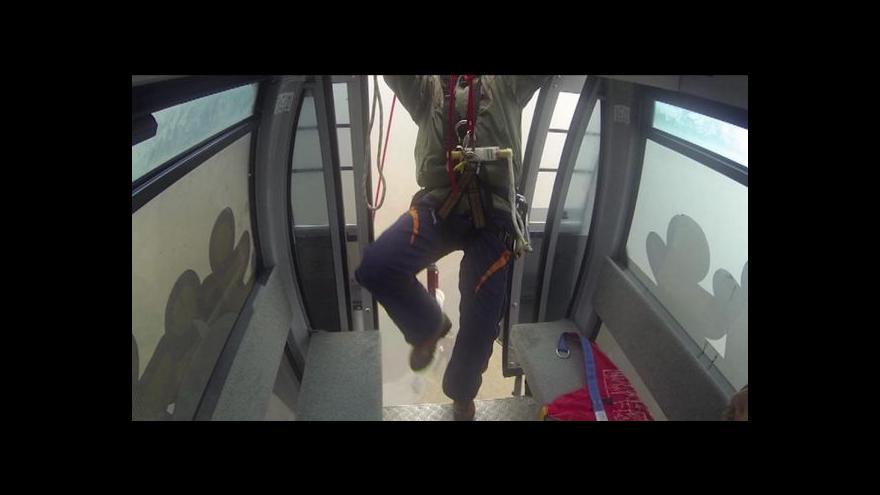 Video Václav Svoboda o cvičení na černohorské lanovce