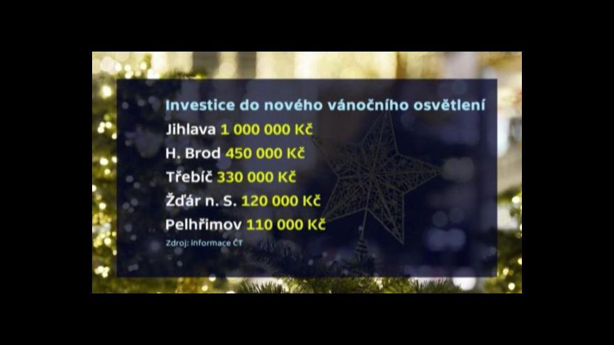 Video Výzdoba vyjde Jihlavu na více než milion korun