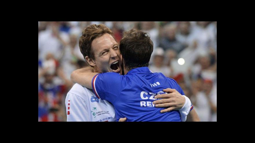 Video Vítězné Štěpánkovy body proti Lajovičovi a ohlasy českých tenistů