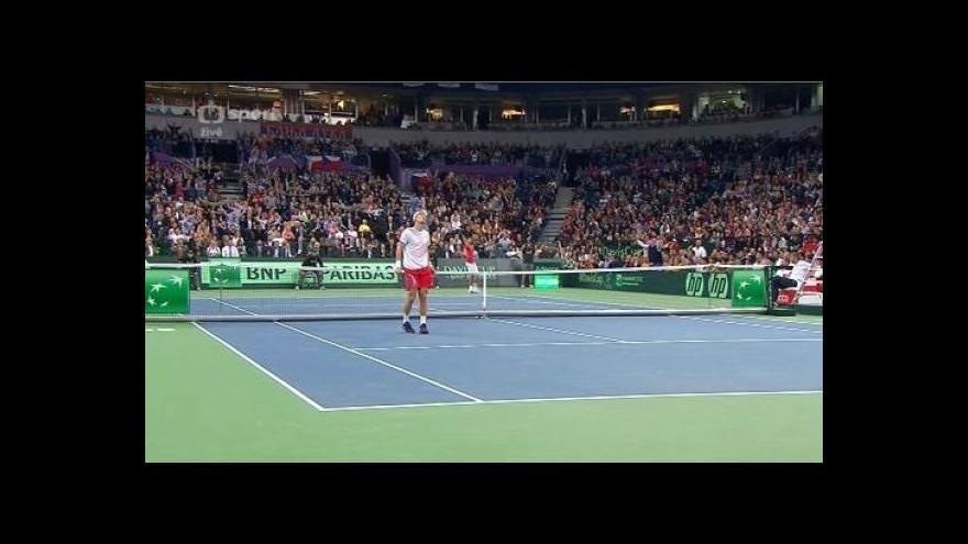 Video Dramatický závěr druhé sady v utkání Djokovič - Berdych