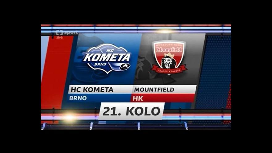 Video Sestřih utkání Kometa Brno -  Hradec Králové