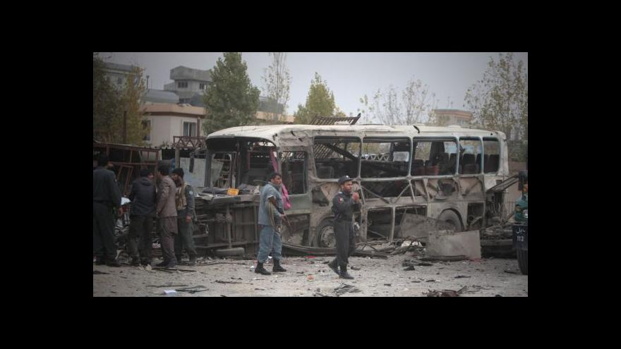 Video Atentát v Kábulu zabil nejméně deset lidí