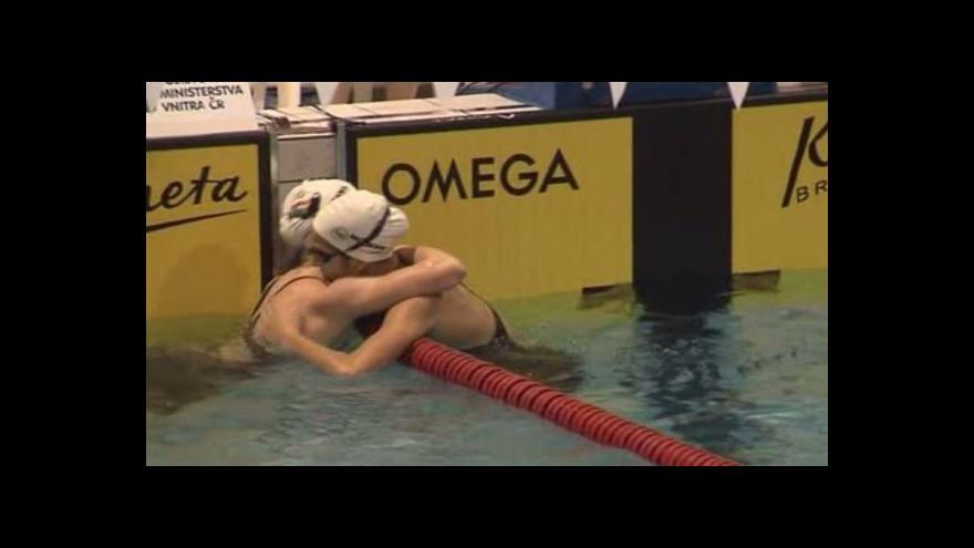 Video Svěcená překonala na Velké ceně Brna český rekord na 50 m motýlek